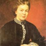 Karl von Blaas: Freifrau Marie von Ebner-Eschenbach,  Öl auf Leinwand, 1873 Quelle: www.zeno.org/Literatur/I/ebnerpor